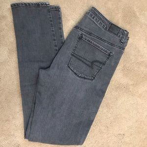 American Eagle gray skinny jeans